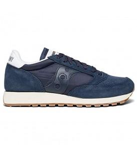 Zapatillas para hombre Saucony Jazz Original Vintage Nobuk S70419-2 de color azul marino al mejor precio en chema sneakers Pontevedra.