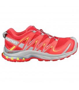 Comprar zapatillas de trail running para mujer baratas de la marca Solomon modelo XA PRO 3D en color coral