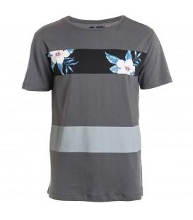 Camiseta para hombre 100% algodón de la marca Rip Curl y estampado de flores