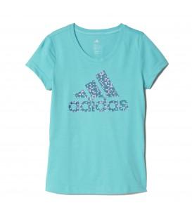 Camiseta para niños de Adidas con el logo de Adidas en la parte frontal