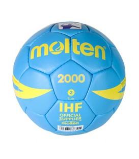 Balón de balonmano talla 2 de la marca Molten réplica del balón de la Liga Asobal.