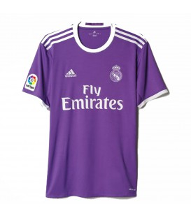 Camiseta futbol Real Madrid segunda equipación temporada 2016/2017 color violeta.