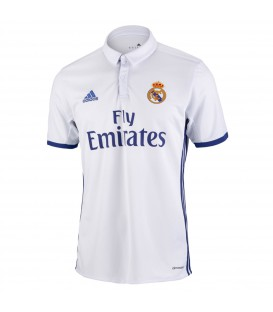 Camiseta Real Madrid primera equipación en color blanco temporada 2016 2017 de Adidas.