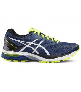 Zapatillas Asics Gel Pulse 8 para hombre de color azul. Modelo para pisada neutra con exterior reflectante y suela Guidance line®. Zapatillas Asics Gel Pulse 8 para hombre de pisada neutra.