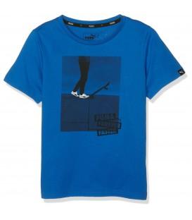 Camiseta con dibujo estampado de skate de la marca Puma Sports Style.