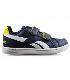 Zapatillas con cierre de velcro baratas de la marca Reebok para niños. Otros colores de Reebok disponibles en chemasport.es