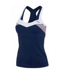 Camiseta de padel y tenis de Naffta para mujer con efecto modelador y transpirable.