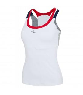 Camiseta de pádel para mujer transpirable y efecto modelador de Naffta.