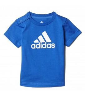 Comprar camiseta de Adidas para bebé barata con cierre con botones y cuello redondo en chema sport.