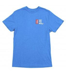 Camiseta corte ajustado para hombre de la marca Vans en color azul. Otras camisetas de Vans outlet en chemasport.es