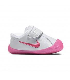 Comprar patucos de bebé de Nike en color blanco y rosa baratas en chemasport.es