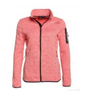 Chaqueta polar para mujer con bolsillos de CMP en color rosa. Compras prendas de CMP en España en www.chemasport.es