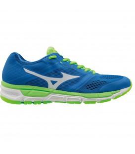 Zapatillas de running para hombre Mizuno Synchro MX en azul. Ideales para corredores avanzados, incorporan la última tecnología de la marca japonesa.