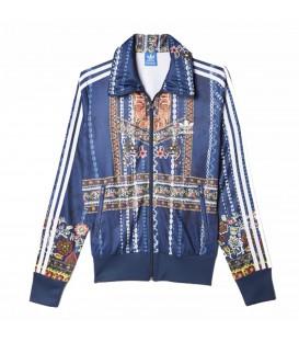 Chaqueta Adidas Cirandeira x The FARM Company Firebird para mujer color azul marino. Comprar chaquetas Adidas en Chema Sneakers.