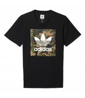 Camiseta con estampado de camuflaje Adidas Camouflage Blackbird de color negro en Chema Sport.