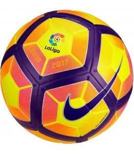 Compra barato el balón de fútbol Nike Stirke La Liga de la LFP para el 2016/2017.en llamativos colores. Amarillo y rosa en contraste para un mejor segumiento