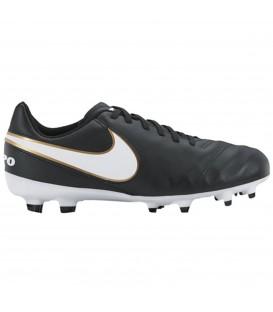 NIKE JR. TIEMPO LEGEND VI (FG) 819186 010 zapatillas futbol niños negros