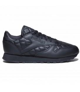 Zapatillas para mujer Reebok Classic Leather quilted pack de color negro confeccionadas en piel.