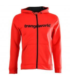 Chaqueta de trekking para hombre Trangoworld ripon de color rojo con capucha. Productos de trekking en chemasport.es