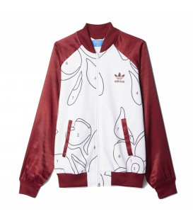 Chaqueta tipo bomber Adidas Originals Rita Ora de color granate. Otros productos de Adidas x Rita Ora en chemasport.es