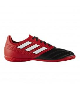 Las zapatillas de fútbol sala Adidas Ace 17.4 IN J para niño en color rojo y negro ya están disponibles en tu tienda chemasport.es al mejor precio