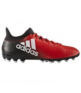Compra ya las botas de fútbol Adidas 16.3 AG de hombre para jugar hierba artificial en color rojo al mejor precio en chemasport.es