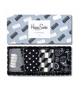 Pack de regalo calcetines Happy Socks en colores negro, gris y blanco. Otras ideas de regalo en Chema Sneakers.
