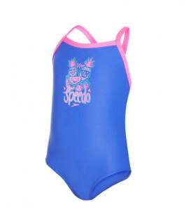 Comprar bañador Speedo Fruitparty Essential 8-07969B047 para niña en color azul y rosa en chemasport.es