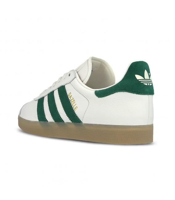 adidas gazelle blanco y verde