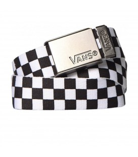 Comprar cinturon Vans Deppster Web Belt V6D8Y28 en color blanco y negro. Disponible en chemasport.es