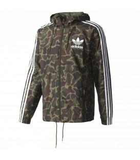 Cortavientos Adidas Camouflage BJ9997 con estampado de camuflaje para hombre de color verde al mejor precio en chemasport.es