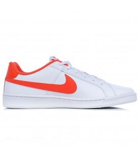 Zapatillas Nike Court Royale para hombre y mujer blancas con el logo de la marca en naranja. Otros modelos de Nike en chemasport.es