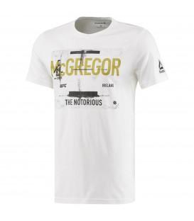 Camiseta de UFC del luchador Conor Mcgregor marca Reebok en color blanco para hombre. Otros modelos de camisetas de UFC en chemasport.es
