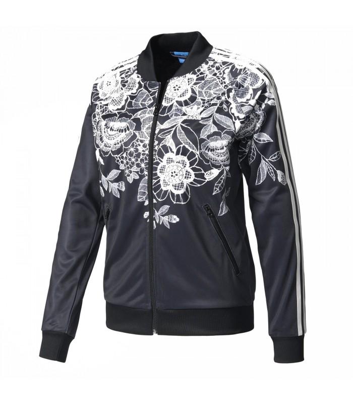chaqueta adidas mujer negra originals