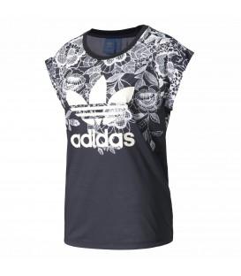 Camiseta Adidas x The FARM Company Florido con estampado floral para mujer. Otros modelos de Adidas en Chema Sport.