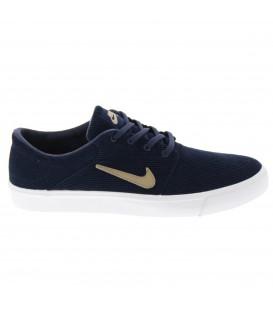Zapatillas de skateboard Nike SB Portmore Canvas Premium para hombre de pana gruesa en color azu. Combina diseño y durabilidad encima de tu tabla.