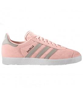 Zapatillas Adidas Gazelle BA7656 de color coral y gris para mujer al mejor precio en chemasport.es
