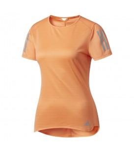 Comprar camiseta de running para mujer Adidas Response BP7455 de color naranja con tecnología climalite. Otras camisetas de running en chemasport.es