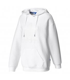 Comprar sudadera para mujer con capucha Adidas Trefoil BJ8313 de color blanco barata. Otras sudaderas de Adidas en chemasport.es