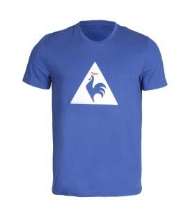 Camiseta básica de color azul con la bandera francesa de Le Coq Sportif Essentiels 1710446 para hombre al mejor precio. Otros modelos de LCS en Chema Sport.
