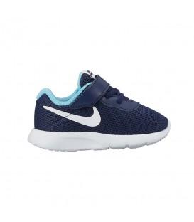 Compra las Zapatillas Nike Tanjun TDV 818386-401 para niño en malla de color azul marino en chemasport.es al mejor precio.
