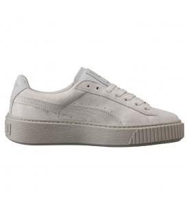Zapatillas Puma Basket Platform reset 36331301 de color gris con plataforma para mujer. Otros modelos de Puma en Chema Sneakers