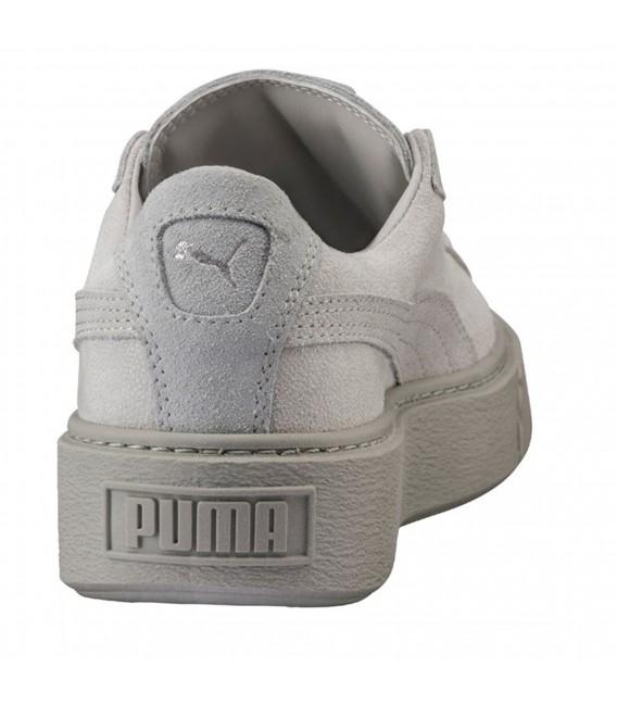 puma basket platform gris