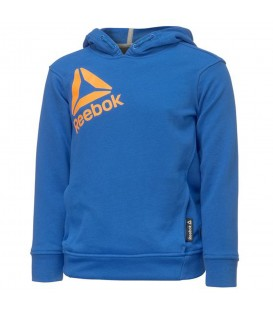 SUDADERA REEBOK BOYS ESSENTIALS OVER THE HEAD MODA SPORTWEAR NIÑO AZUL BK4239