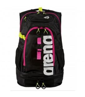 Comprar mochila para triatlon Arena Fastpack 2.1 de color negro y rosa. Otras mochilas de triatlon en chemasport.es