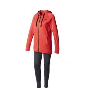 Chándal Adidas Hoody&Tight BK 4675 para mujer en color rojo fresa y gris. Compra al mejor precio en chemasport.es, donde encontrarás todo lo que buscas!