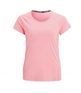 Comprar camiseta de running Nike Dry Miler de color rosa transpirable y con logo reflectante de Nike. Otros modelos de Nike en Chema Sport.