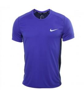 Camiseta de Nike para hombre de color azul. Esta camiseta de running es perfecta para darlo todo en cada una de tus salidas.