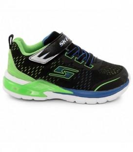 Comprar zapatillas de luces para niños Skechers Eropters II Lava de color verde y negro. Otros modelos de zapatos con luces en chemasport.es