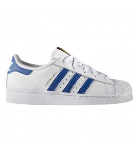 ZAPATILLAS ADIDAS SUPERSTAR FOUNDATION MODA SPORTWEAR NIÑO AZUL BA8383